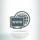 Diseño de icono de monitor — Vector de stock