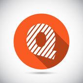 Zebra alphabet letter Q — Stock Vector