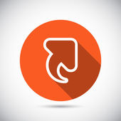 Up arrow icon — Stock Vector