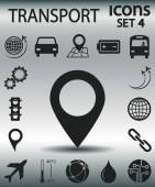 Set transportation  icons — Stock Vector