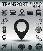 Set transportation  icons — Stock Vector