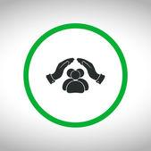 Icono de gente sana — Vector de stock