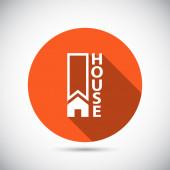 Icono casa plana. — Vector de stock