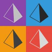 Pyramide-Icondesign — Stockvektor
