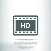 HD video icon — ストックベクタ