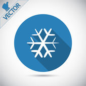 Snöflinga flat ikonen — Stockvektor