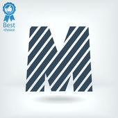 Zebra alphabet letter M — Stock Vector
