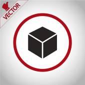 3d cube logo design icon — Stock Vector