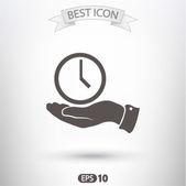 Clock icon design — ストックベクタ