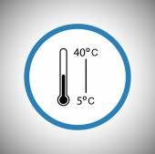 Thermometer icon design — Stock Vector