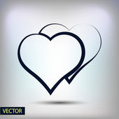 Heart Icon flat design — Stock Vector