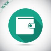 Wallet icon design — Stock Vector