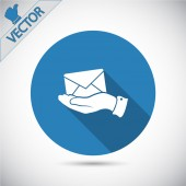 Ikona pošta se obálka — Stock vektor