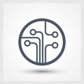 Devre kartı, teknoloji simgesi — Stok Vektör