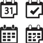 Calendar icon set  Flat design style — Stock Vector #60379115