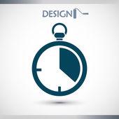 Kronometre simgesi tasarım — Stok Vektör