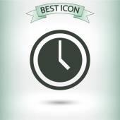 Clock icon design — Stock Vector