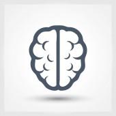 Brain icon Flat design style — Stock Vector