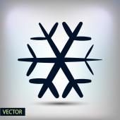 Flache Schneeflocke-Symbol — Stockvektor