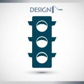 Traffic lights icon — Stock Vector