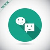 Speech bubble icon — Stock Vector