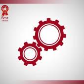 Gear icon. Flat design style — Stock Vector