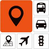 Set transportation  icons — Stockvector
