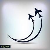 Concepção de símbolo de avião — Vetor de Stock
