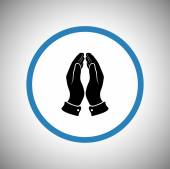 Praying hands icon — Stock Vector