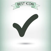 Confirm icon. Flat design style — Stockvektor