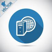 Computer server icon — Stockvektor