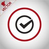 Confermare l'icona. stile design piatto — Vettoriale Stock