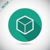 Значок дизайн логотип 3d куб — Cтоковый вектор