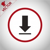 Download  icon  design — Stock Vector