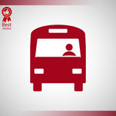 Bus pictogram ontwerp — Stockvector