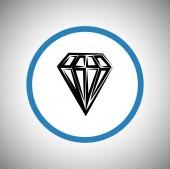 Diamond flat icon — Stock Vector