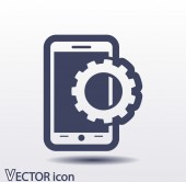 Mobile smartphone icon — Stock Vector