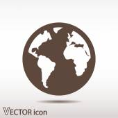 Globe Icon Flat  design — Stock Vector