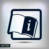 Opened book icon — Stock Vector