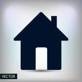 Flat House icon. — Stock Vector