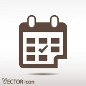 Calendar icon Flat design style — Stock Vector