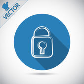 Lock icon. Flat design style — Stock Vector