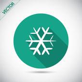 スノーフレーク フラット アイコン — ストックベクタ