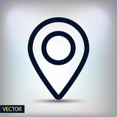 Mark icon, pointer — Stock Vector