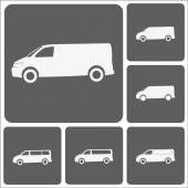 Truck flat icon set — Stock Vector