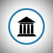 Edificio storico icona — Vettoriale Stock