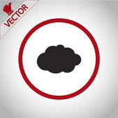 Cloud icon  Flat design style — Stock Vector