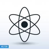 Atom icon. flat design — Vector de stock