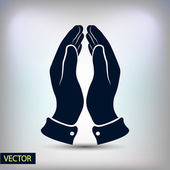 Hands icon design — Stock Vector