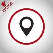 지도 포인터 평면 아이콘 — Vector de stock